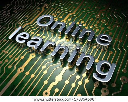 Education concept: circuit board with word Online Learning, 3d render - stock photo