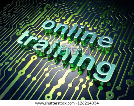 Education concept: circuit board with word Online Training, 3d render - stock photo
