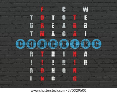 Education concept: Coaching in Crossword Puzzle - stock photo