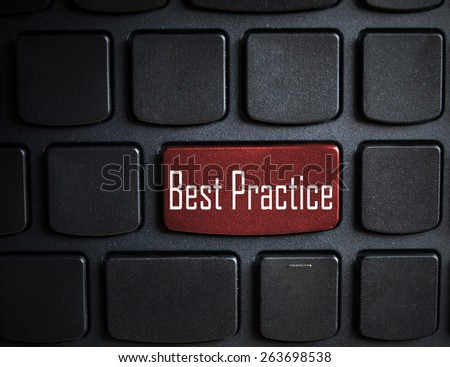 Education concept: computer keyboard with word Best Practice on enter button - stock photo