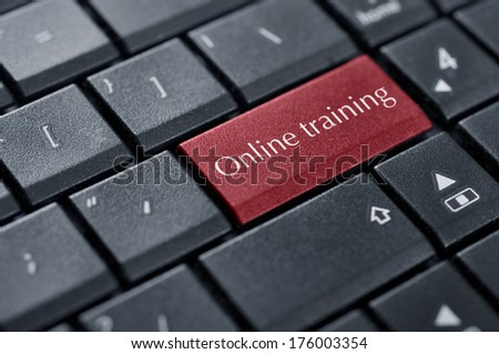 Education concept. Computer keyboard with word Online Training closeup - stock photo