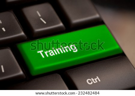Education concept: computer keyboard with word Training on enter button - stock photo