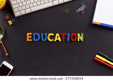 Education Concept: EDUCATION - stock photo