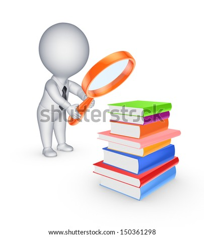 Education concept.isolated on white.3d rendered. - stock photo