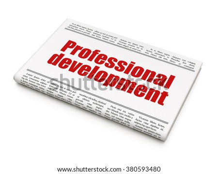 Education concept: newspaper headline Professional Development - stock photo
