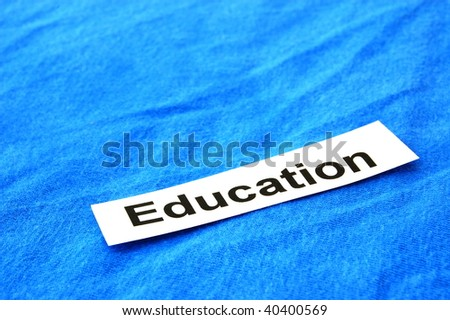 education concept with sheet paper and copyspace