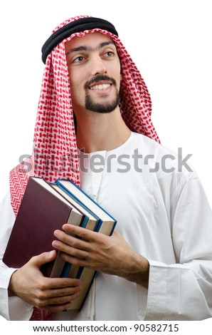 Education concept with young arab - stock photo