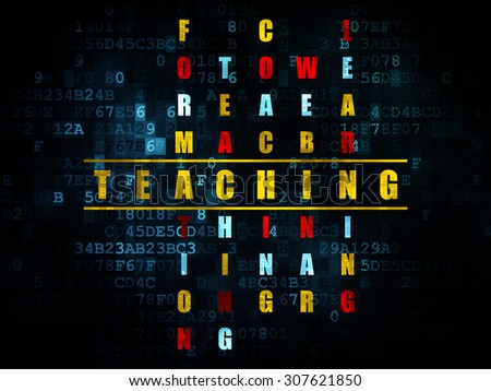 Education concept: word Teaching in solving Crossword Puzzle - stock photo