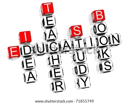 Education Crossword text on white background