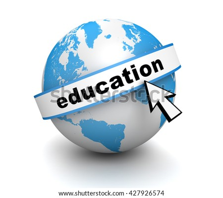 education 3d illustration
