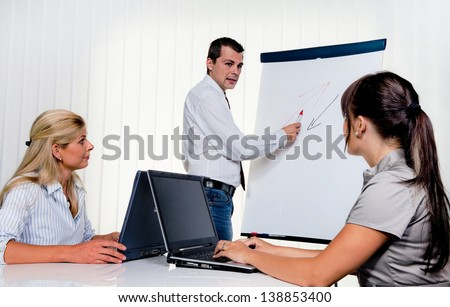 education for staff training of young adults - stock photo