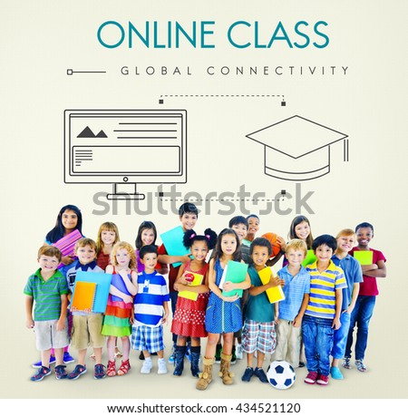 Education Global Connectivity Graphic Concept - stock photo