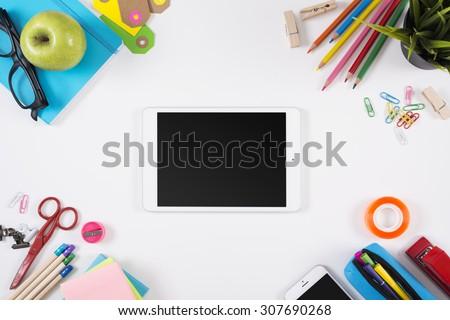 Education hero header mockup - stock photo