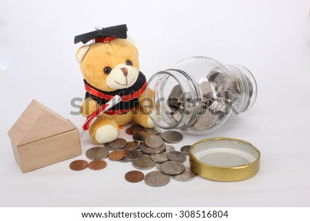Education & Housing Investment - stock photo
