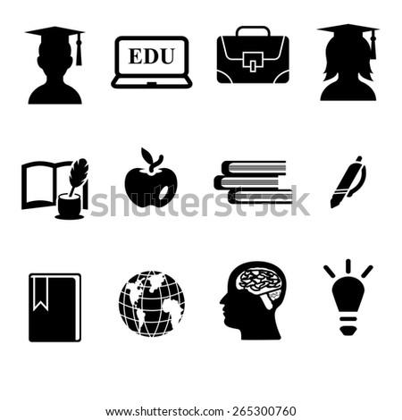 Education  icon set - stock photo