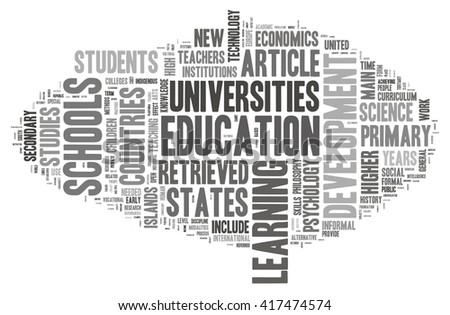 Education in word cloud