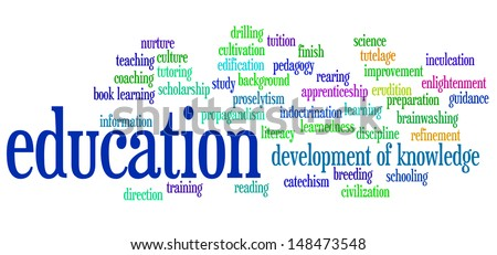 Education info-text graphic arrangement concept
