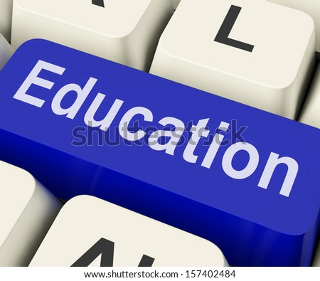 Education Key On Keyboard Meaning Teaching Schooling Or Training