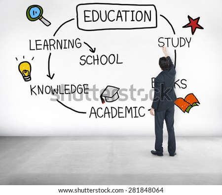 Education Knowledge School Learning Studying Concept - stock photo