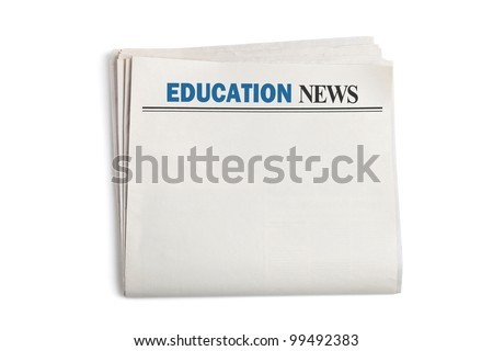 Education News, Newspaper with white background