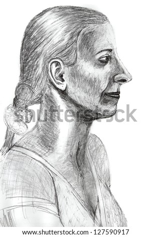 education of drawing - lesson 8  (portrait from plaster head)