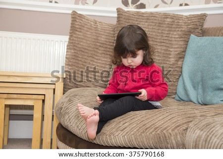 Education on Tablet PC - stock photo