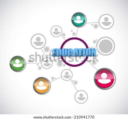 education people network illustration design over a white background - stock photo