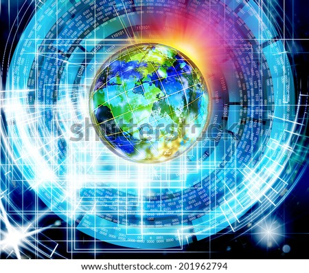 Education.Science.Internet - stock photo