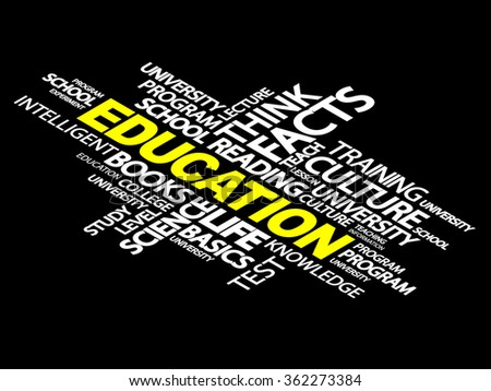 EDUCATION word cloud, business concept - stock photo