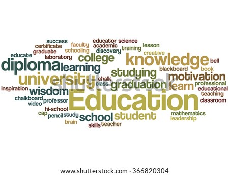 Education, word cloud concept on white background.
