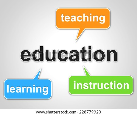 Education Words Showing Train Educating And Educate - stock photo