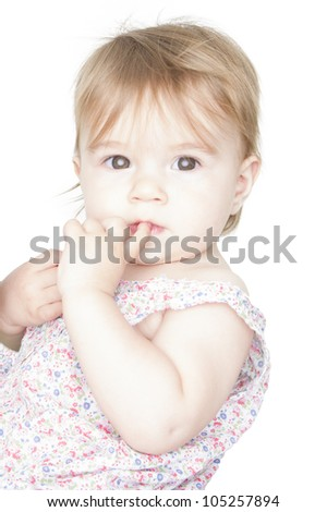 Eeny, meeny, miny, moe  Catch a tiger by the toe.  Decisions, decisions, decisions. Young beautiful lady can not make her mind. I hope she will make her mind up when she grows up. - stock photo