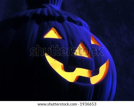 Eerie Pumpkin - stock photo