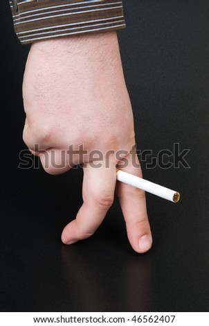 effect of smoking on sexual potency - stock photo