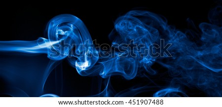 effect smoke color blue black screen