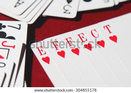 EFFECT word written on card  - stock photo