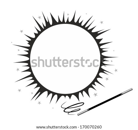 effective magic trick with twisting magic wand - stock photo