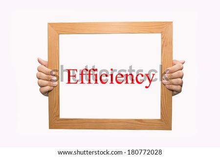Efficiency  - stock photo