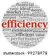 Efficiency concept in word tag cloud on white background - stock vector