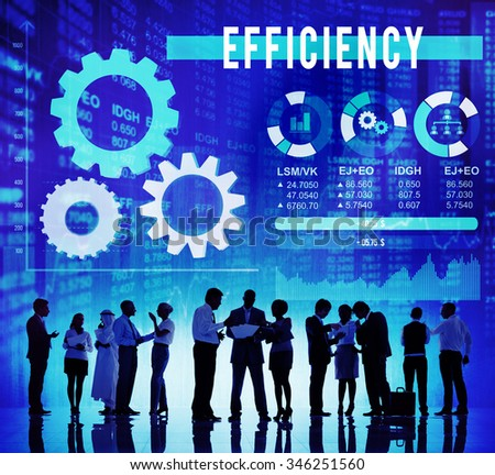 Efficiency Improvement Productive Business Vision Concept - stock photo