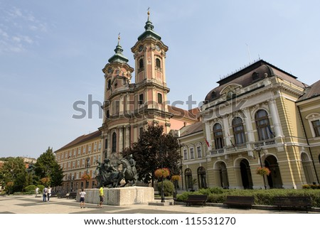 Eger Main square - stock photo