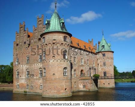 egeskov castle - stock photo