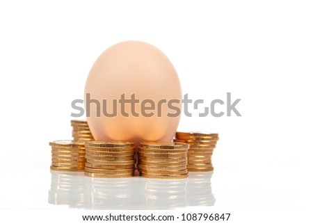 Egg and coin