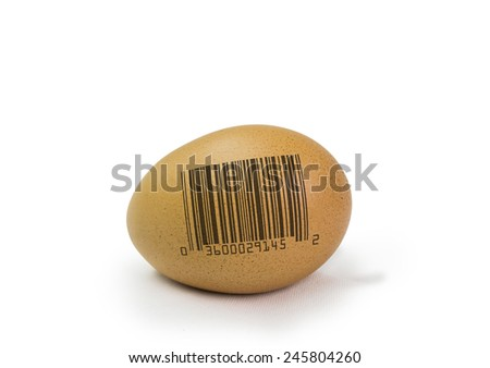 egg bar code - stock photo