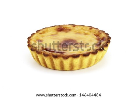 egg cream brulee pie - stock photo
