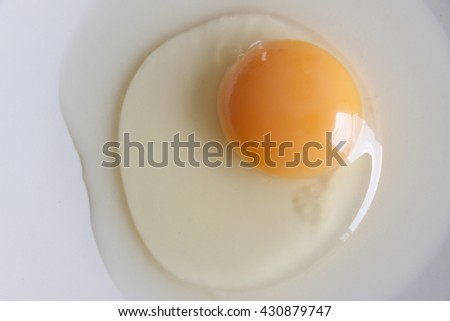Egg, Egg protein, Egg raw, Eggs on a white plate background, Egg breakfast, Eggs for cooking,  Egg on rustic wooden table, Egg yolk and egg white.