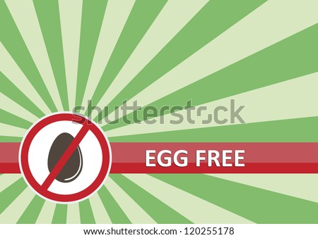 Egg free banner for food allergy concept