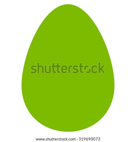 Egg icon from Primitive Set. This isolated flat symbol is drawn with eco green color on a white background, angles are rounded.