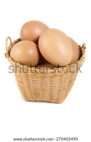 egg in weaving basket