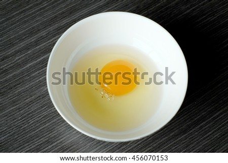 Egg is the organic vessel containing the zygote in which an animal embryo develops until it can survive on its own, at which point the animal hatches.